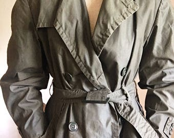 vintage army issued trench coat