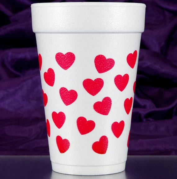 Valentines Day cups, Valentines Day party decor, Valentines cups, XOXO cups, XOXO party decor, heart party decor, pink birthday party decor
