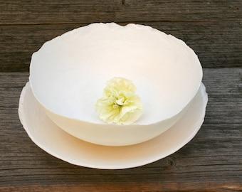 Crispy Chipsy paper porcelain bowls set