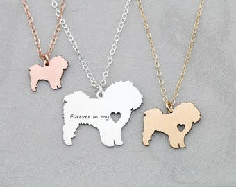 Maltese Necklace • Silver Maltese • Short Hair Dog Pendant • Dog Breed • Sterling Silver Charm • Loss Pet Memorial • New Dog Gift
