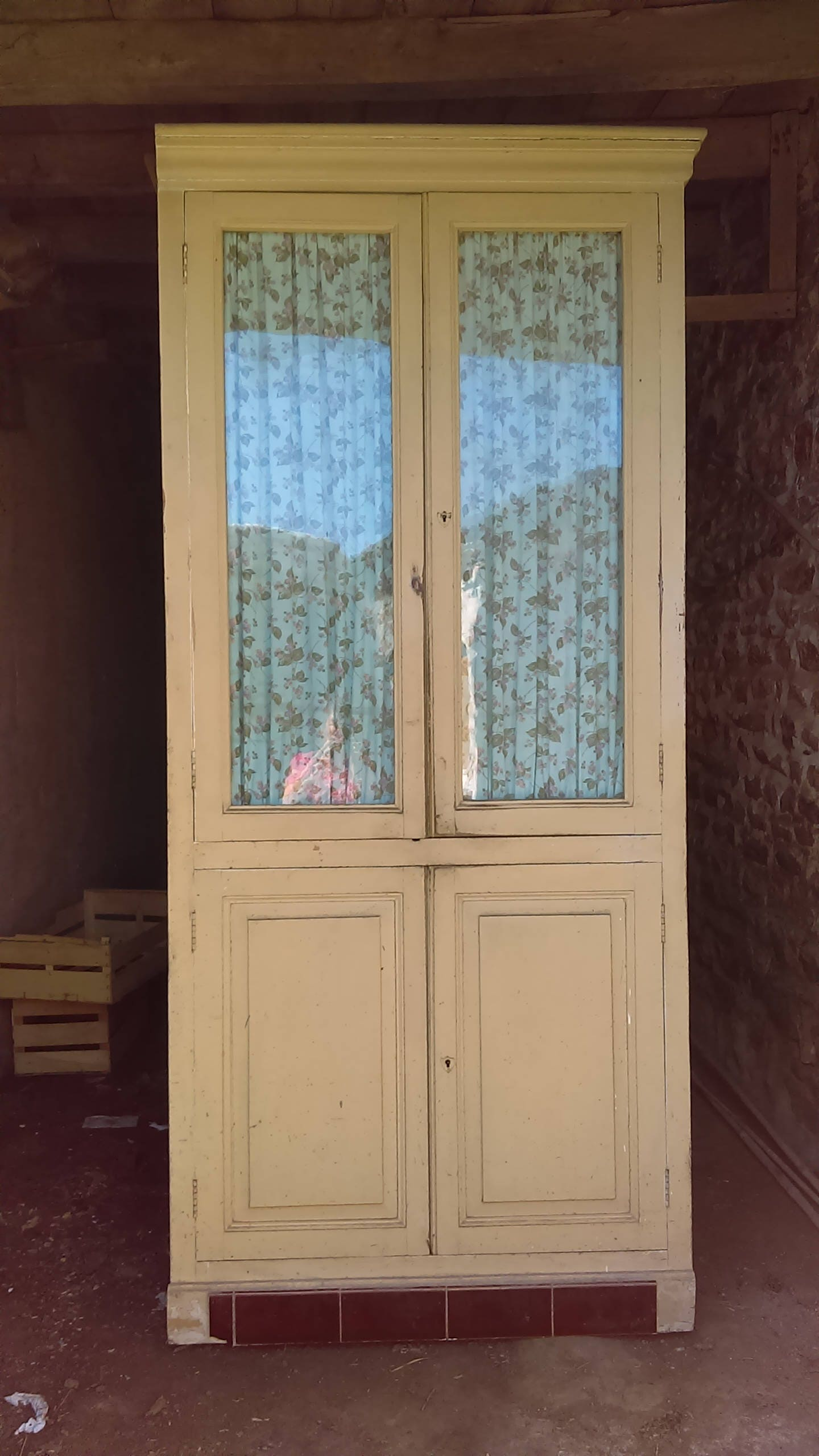 Glazed Kitchen Cupboard Doors Antique Old Painted Pine French Dresser Kitchen Cupboard With