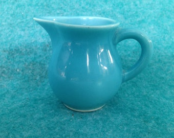Homer Laughlin China Harlequin Individual Creamer in Turquoise Blue