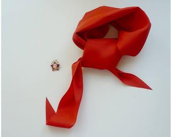 Set, tie and pioneer badge / Комплект: галстук и значок пионера