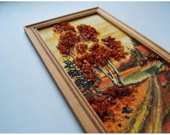 Painting with amber / Картина с янтарем