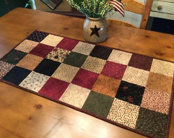 Quilted Table Runner / Country Decor / Handmade / Table Runner / Item #2126