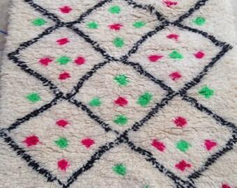 Beni Ouarain woolen rug