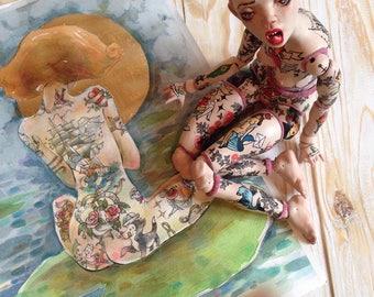 Flower Watercolor Painting, Flower Painting, Flower Art, Flower Wall Art, Flower Wall Decor, Modern Art, Home Interior, Liona-de-Liv,