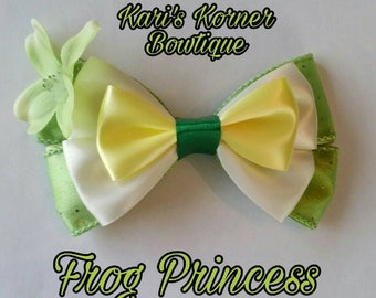 Disney Inspired Bow - Frog Princess (Large)