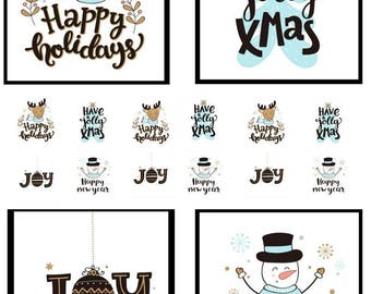 YULE TIDE STICKIES: Custom, Full Color Address Labels, Full Page Personalized Stickers, All Things Adhesive, Christmas Themes, No Minimum