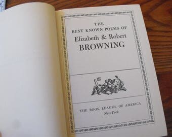 Best Known Poems Of Elizabeth And Robert Browning Book 1942