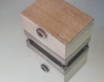 Black limba wood jewelry box.