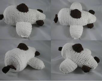 Deco004 - Plane decorative chocolate and white crochet