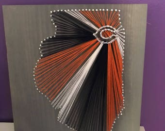 Chicago bears Illinois string art
