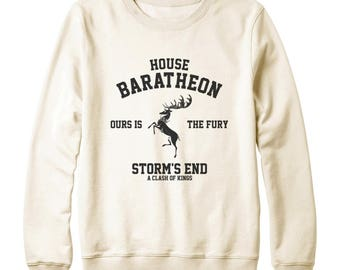 House Baratheon Shirt Ours Is The Fury Shirt Storm shirt Game of Thrones Shirt Game Of Thrones Sweatshirt Oversized Women Sweatshirt Men