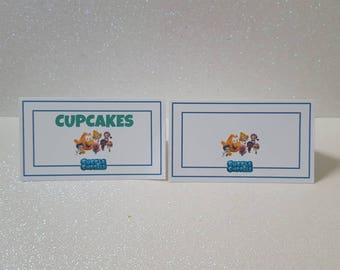 Bubble Guppies Food Tent Cards *Name Cards *Buffet Cards *Bubble Guppies Birthday *Birthday Party Decorations  **Set of 12