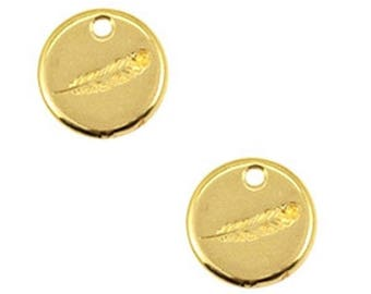 DQ Metal Pendant-spring-1 PC-Zamak-color selectable (color: Gold)