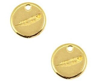 DQ Metal Pendant-spring-1 PC-Zamak-color selectable (color: Gold)