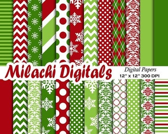 60% OFF SALE Christmas digital paper, holiday scrapbook papers, snowflake wallpaper, christmas background - M561