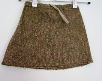 Chevron girl skirt
