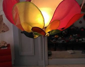 light multicolor flower paper and wire