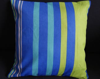 green white 40 X 40 cm blue stripe pillow cover