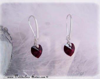 Romantic Red Heart Earrings