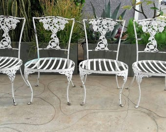 White Chippy Iron Victorian Outdoor Chairs (1  Set Of 4)