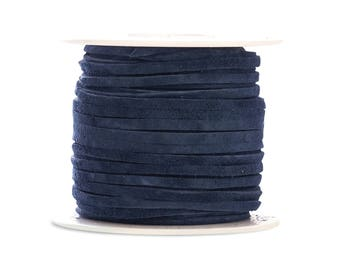 Suede Lacing - (1) 25 yard (75 foot) spool, 1/8th inch lace. Cadet Blue Suede lace. (3218x25CA)