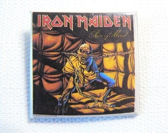 Vintage Early 80s Iron Maiden - Piece of Mind Album (1983) - Pin / Button / Badge