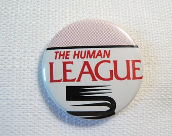 Vintage 80s The Human League Pin / Button / Badge - Date Stamped 1982