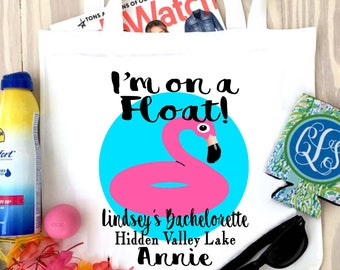Flamingo Tote bag. Who gives a Flock Party Favors! Flamingo Bachelorette or Girls Weekend Tote Bag. Flamingle Favor Bag.