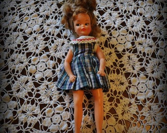 Vintage Ideal Toy Corp. Doll, 9 in. tall.