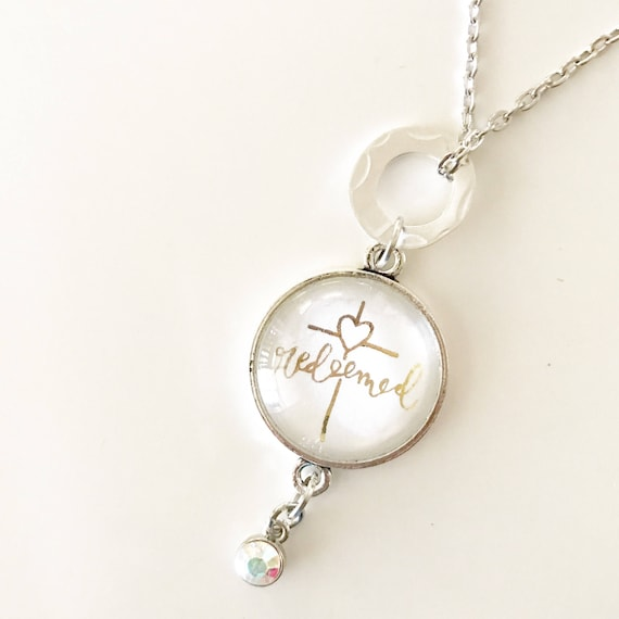 Catholic Jewelry * Catholic Pendant Necklace * Pendant Necklace *Tassel Necklace * Handlettered Pendant Necklace * Gifts for Her