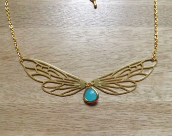 Dragonfly wing necklace.