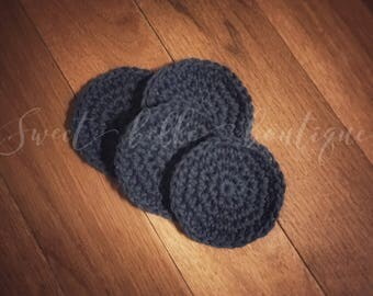 Crochet face scrubbies, makeup remover cloths, cotton scrubbie