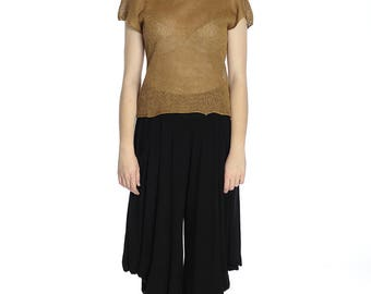 Special price. Transparent old gold linen top, M size. Perfect for Summer.