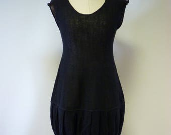 Special price. Elegant black linen tunic, M size.