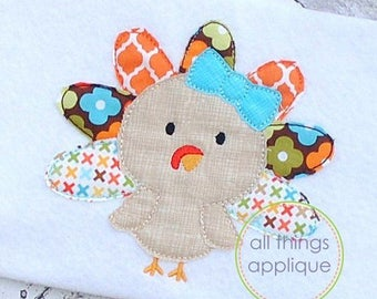 Applqiue girl turkey outfit