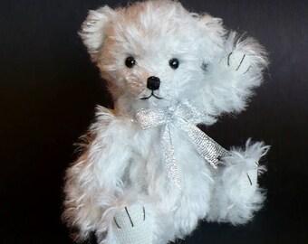 Artist bear, a 5 inch mohair bear, Moonbeam