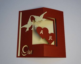 Wedding invitation - theme frame pop up