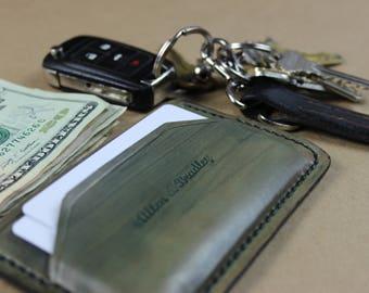 Green Cammo Patina Minimalist Wallet