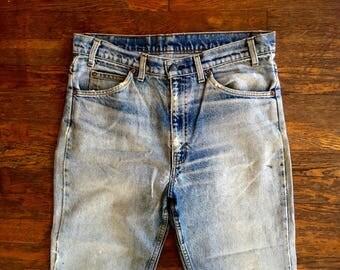 Vintage LEVIS 517 Boot Cut Distressed & DESTROYED Denim Work JEANS 33x31 #5