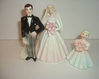 Lefton Bride Groom and Flower Girl