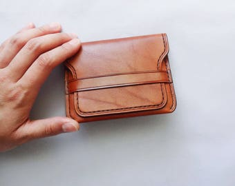 Leather Compact Wallet | Made-To-Order Front Pocket Wallet