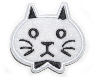 Cat Embroidered Patch Appliqué
