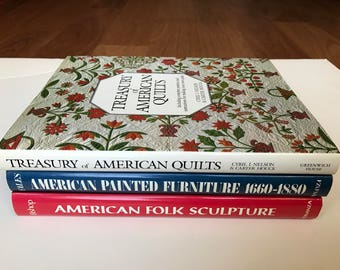 The Library of American Antiques Three Volume Set In Original Box