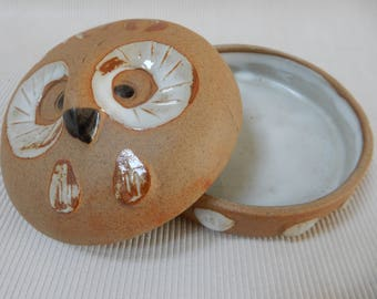 Owl Covered Trinket Dish by Takahashi