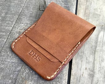 Personalized leather wallet Personalized kangaroo leather wallet Personalized wallet Personalized minimalist wallet Personalized thin wallet