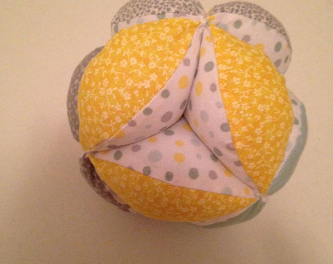 Super Soft Infant Clutch Ball. Montessori Puzzle Ball. Sensory Learning Toy. Soft and Safe for indoor Kid's and Baby Play