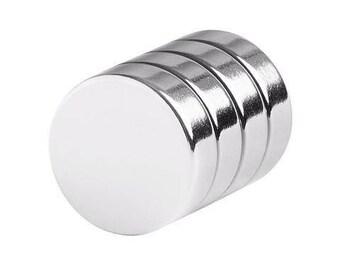 3/4 x 1/4 Inch Neodymium Rare Earth Disc Magnets N48 (4 Pack)